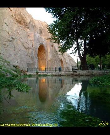 طاق بستان، آثاری به جا مانده از دوره ساسانی